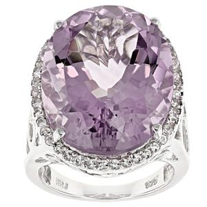 Jewelry - Orchid Amethyst Sterling Silver Ring 22.36ctw